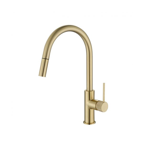 MN Pull Out Kitchen Sink Mixer with Textured Pin Handle | Brushed Bronze |