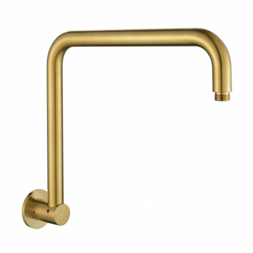 MN Round Gooseneck High Rise Shower Arm | Brushed Bronze |