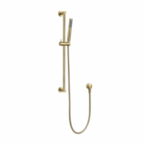 MN Round Hand Shower with Rail | Brushed Bronze |