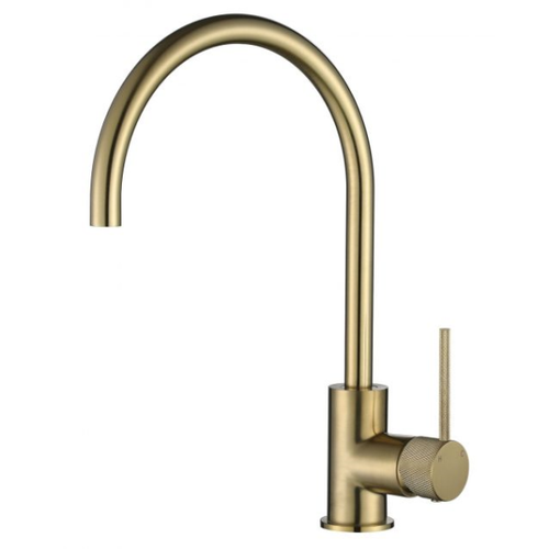 MN Round Kitchen or Basin Sink Mixer with Textured Pin Handle | Brushed Bronze |
