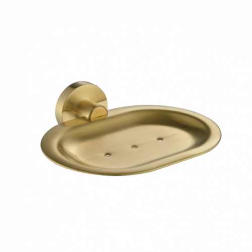 MN Round Soap Dish | Brushed Bronze |