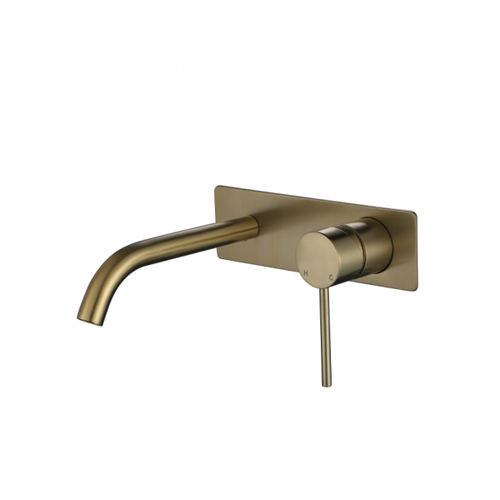MN Round Wall Mounted Basin Mixer Set Combo Pin Handle | Brushed Bronze |