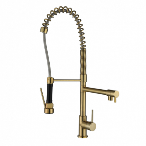MN Spring Kitchen Mixer | Brushed Bronze |