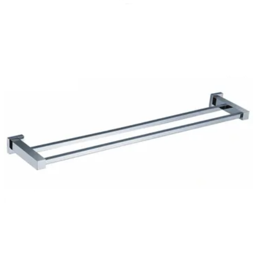 Prisa LX Square Double Towel Rail | 600mm or 750mm | | Chrome |