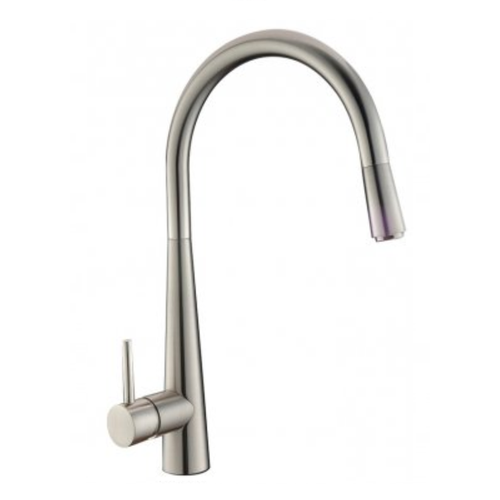 Profile Eco Gooseneck Pull Out Sink Mixer | Brushed Nickel |