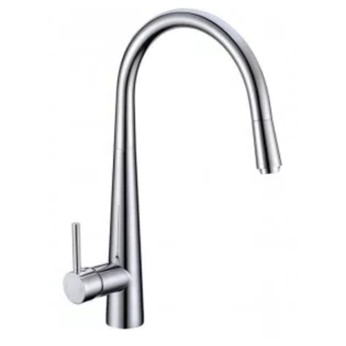 Profile Eco Gooseneck Pull Out Sink Mixer | Chrome |