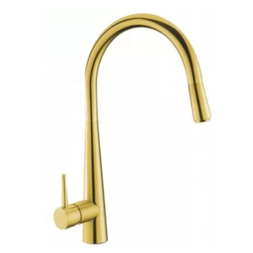 Profile Eco Gooseneck Pull Out Sink Mixer | Gold |