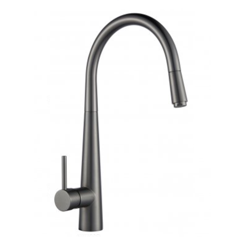 Profile Eco Gooseneck Pull Out Sink Mixer | Gun Metal |