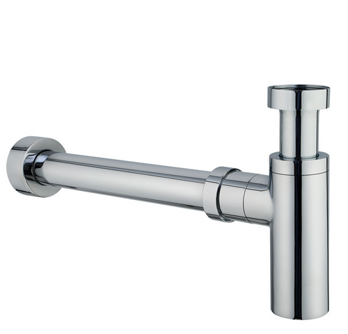 Bottle Trap for Wall Hung Basins - Chrome