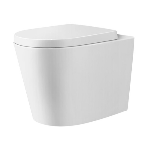 Tiffalo Wall Faced Toilet Pan (Compatible with Cistern Behind the Wall) | Gloss White |