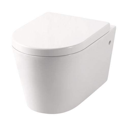 Tiffalo Wall Hung Toilet Pan (Compatible with Cistern Behind the Wall) | Gloss White |