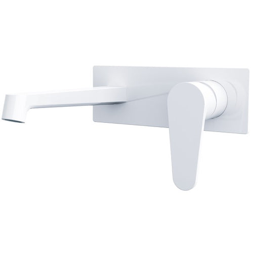 Victor Bath or Basin Wall Mixer Set | Gloss White |