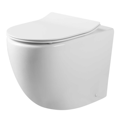 V mk2 Wall Faced Toilet Pan (Compatible with Cistern Behind the Wall) | Gloss White |