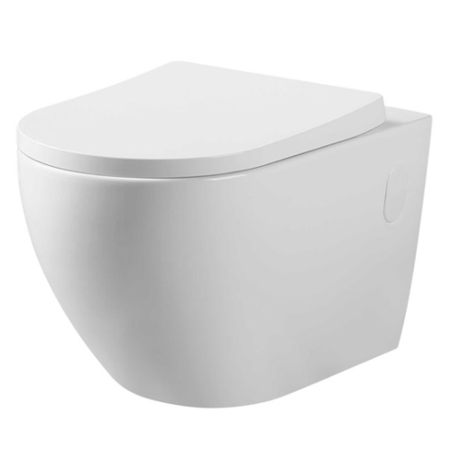 V mk2 Wall Hung Toilet Pan (Compatible with Cistern Behind the Wall) | Gloss White |