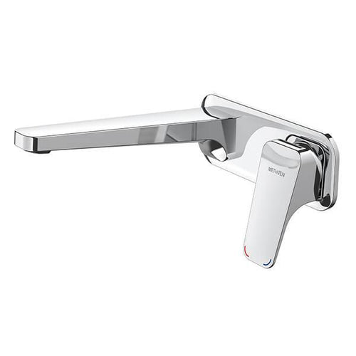 Methven Waipori Wall Mounted Basin Mixer with Plate 01-8123 | Chrome |