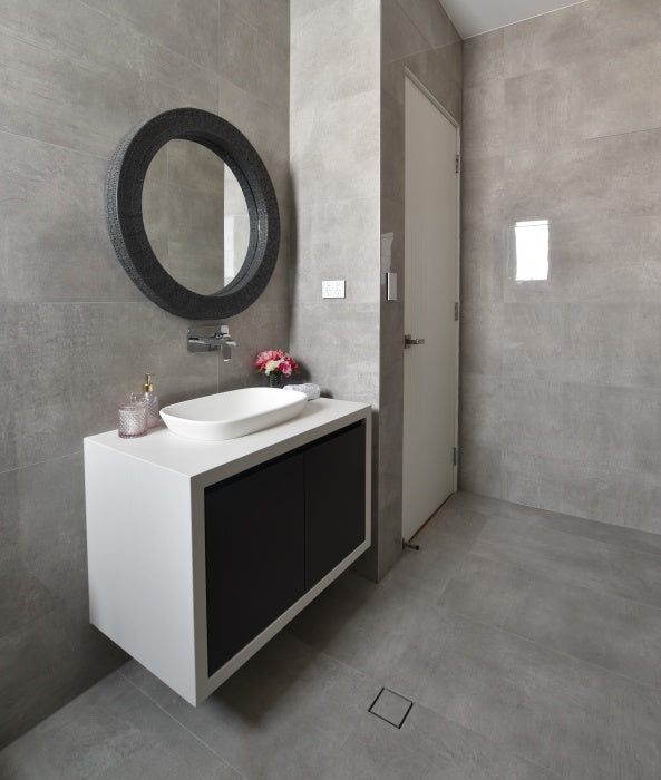 79 Bathrooms Peek The All Wrapped Look Vanity And Cute Round Featu Ats Tiles Bathrooms