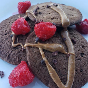 Vegan Chocolate Protein Pancakes W/ Almond Butter