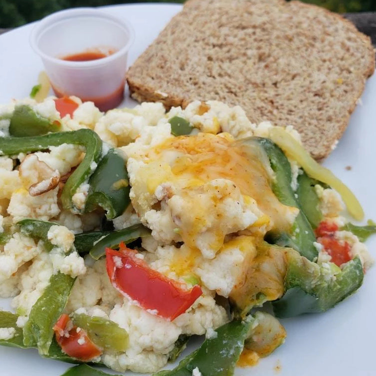 Mexican Scrambled Eggs with Toast