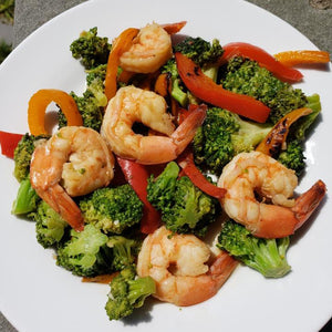 Sesame Shrimp with Broccoli