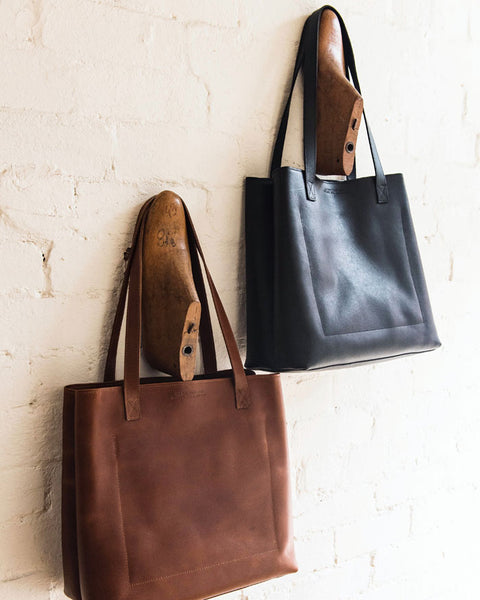 New Small Leather Tote