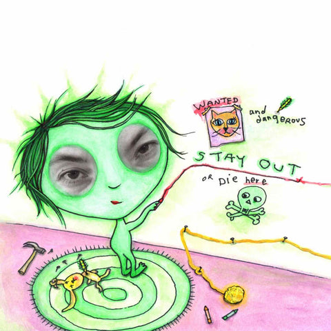 A little girl feeling green. An illustration from the poem picture book, My Colors Inside, by Alex Mitchell.