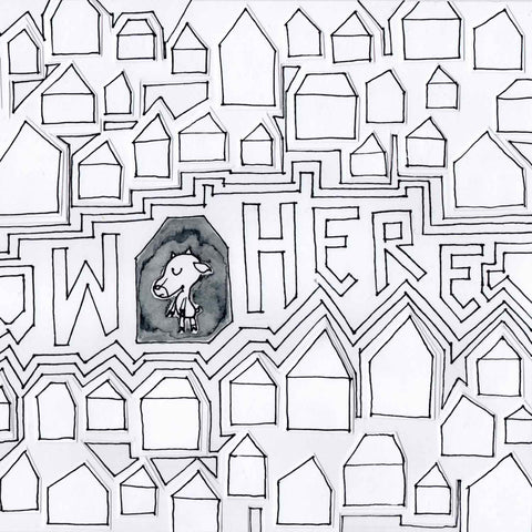 Detail of Now Here coloring page available as free download on Twinki-Winki goodies page.