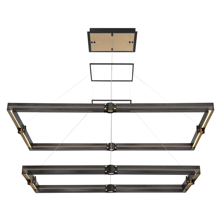 Admiral Two-Tier Rectangular LED Chandelier