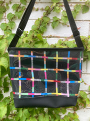 Carmie Bag - Rainbow Network Black