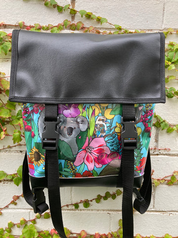 Backpack/ Shoulder Bag - Aussie Animals