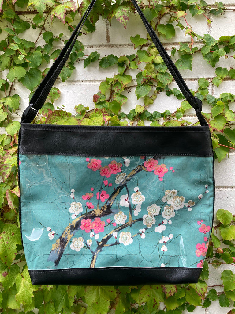 Zip-Up Tote Bag -  Golden Garden Green