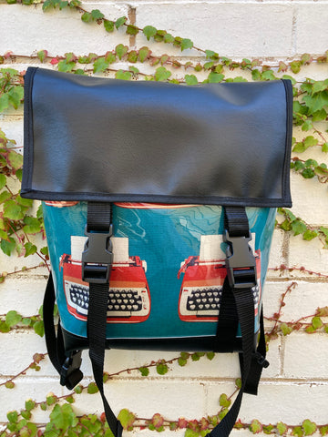 Backpack/ Shoulder Bag - Typewriter