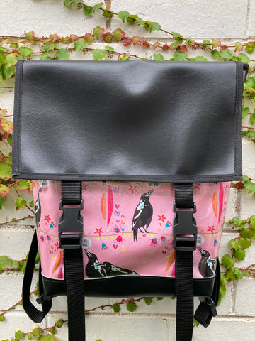 Backpack/ Shoulder Bag - Magpie Talk