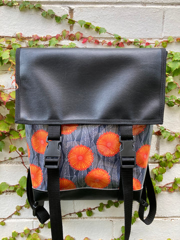 Backpack/ Shoulder Bag - Orange Pop
