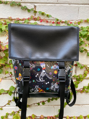 Backpack/ Shoulder Bag - Sugar Skull Dogs