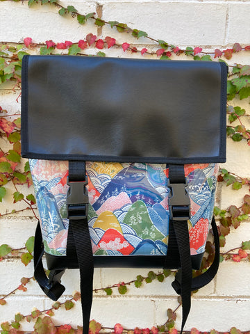 Backpack/ Shoulder Bag - Zen Mountains