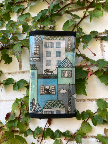 Wallets - Cat On A Hot Tiled Roof Blue