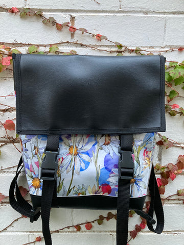 Backpack/ Shoulder Bag - Glamour Daisy