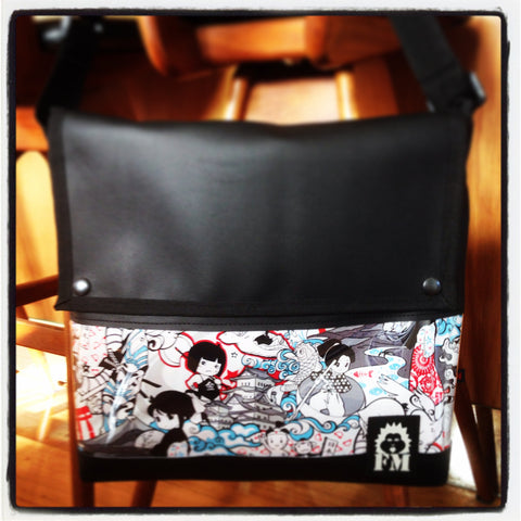 Messenger Bag - Anime Collage