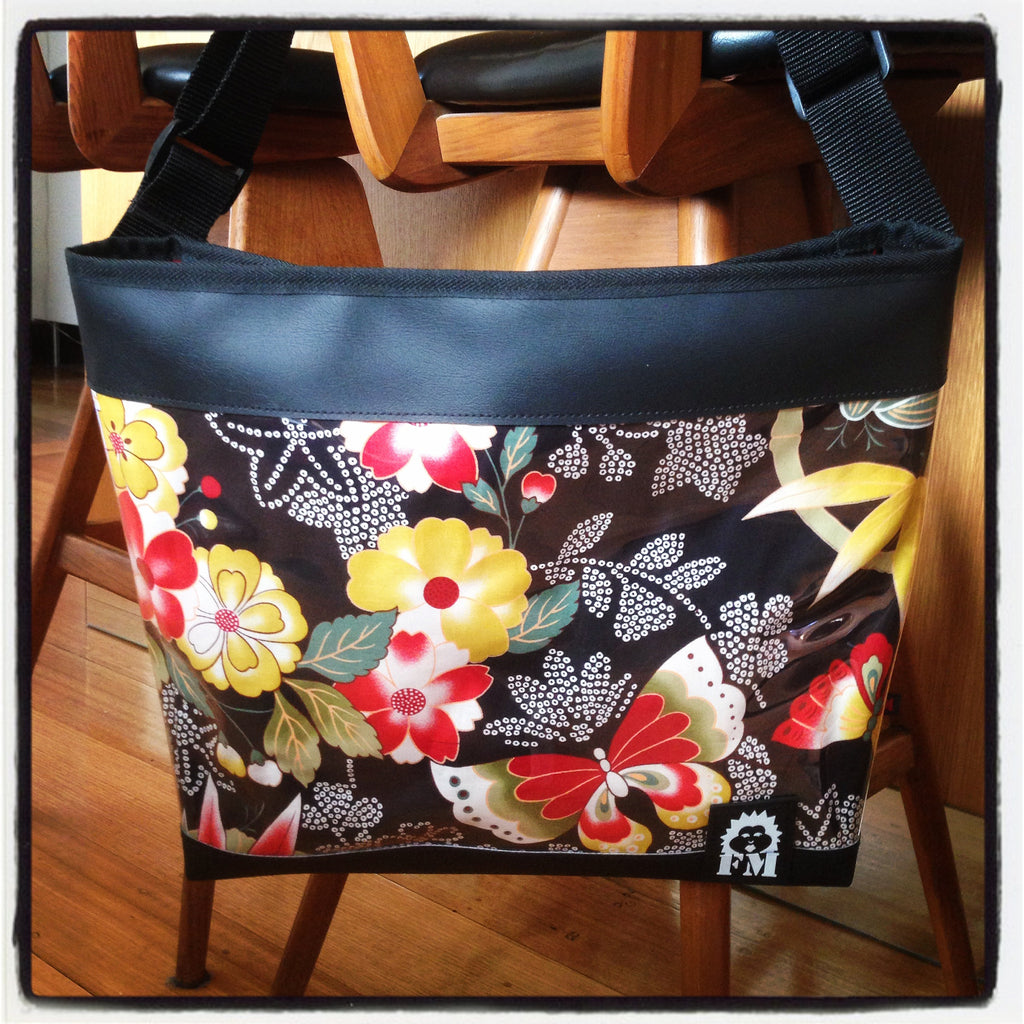 Zip-Up Tote Bag -  Imperial Butterfly