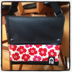 Messenger Bag - Red Poppies