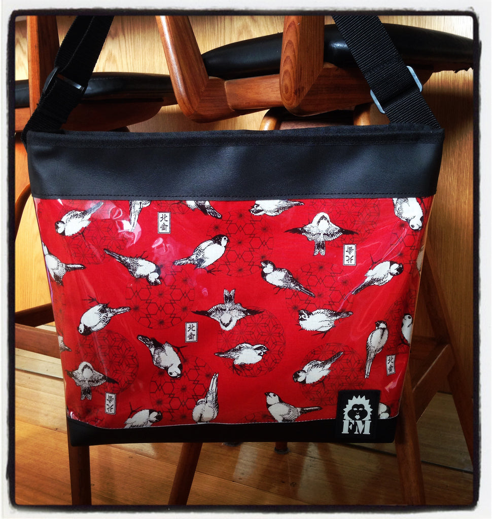 Zip-Up Tote Bag -  Sparrows Delight