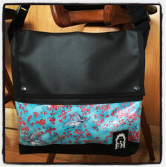 Messenger Bag - Crane In Blossom