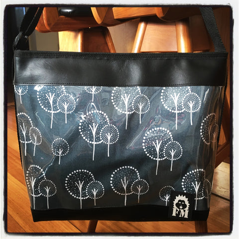 Zip-Up Tote Bag - Bright Trees