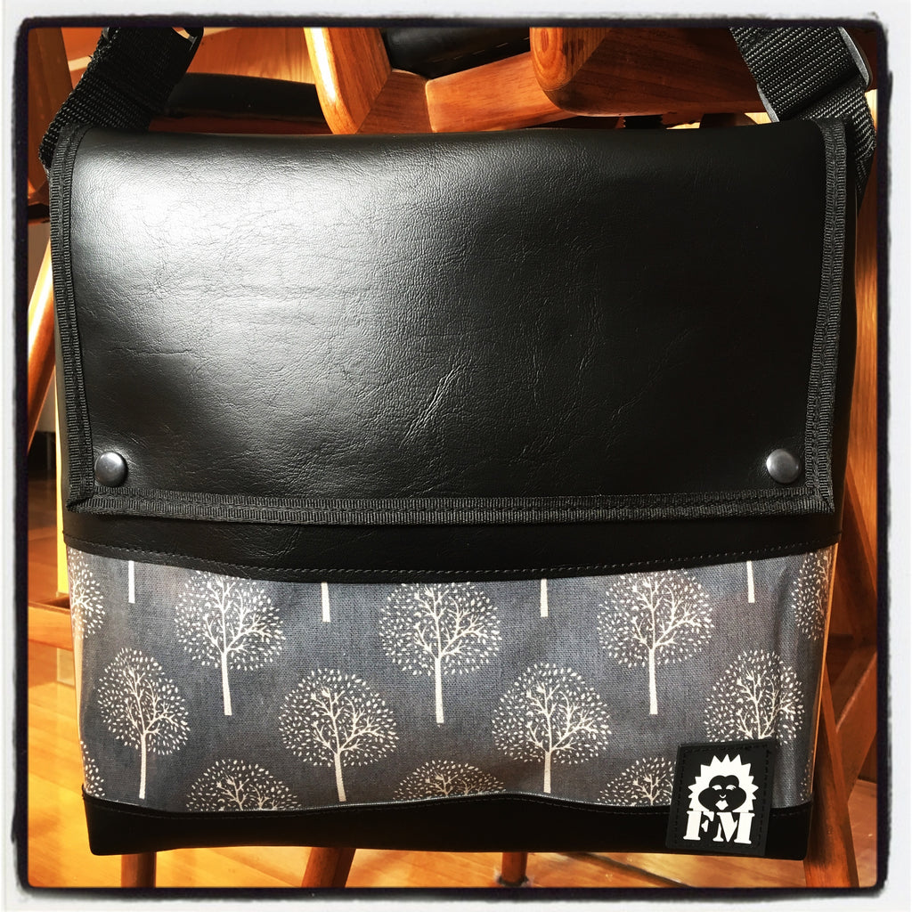 Messenger Bag - Tree Of Life Grey