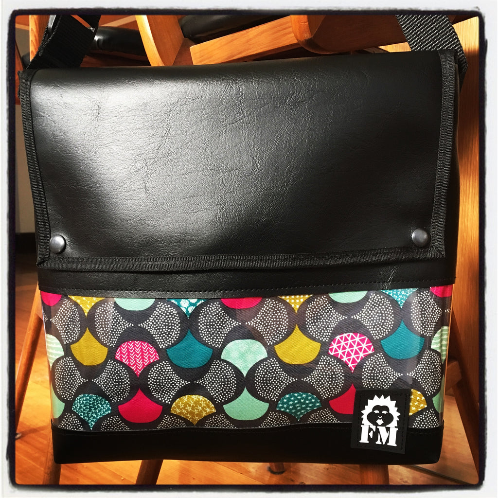 Messenger Bag - Patchwork Petals
