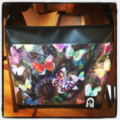 Zip-Up Tote Bag -  Kaleidoscope Butterflies