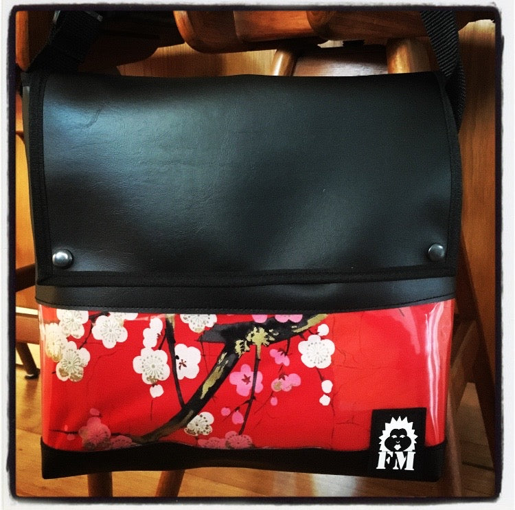Messenger Bag - Golden Garden Red
