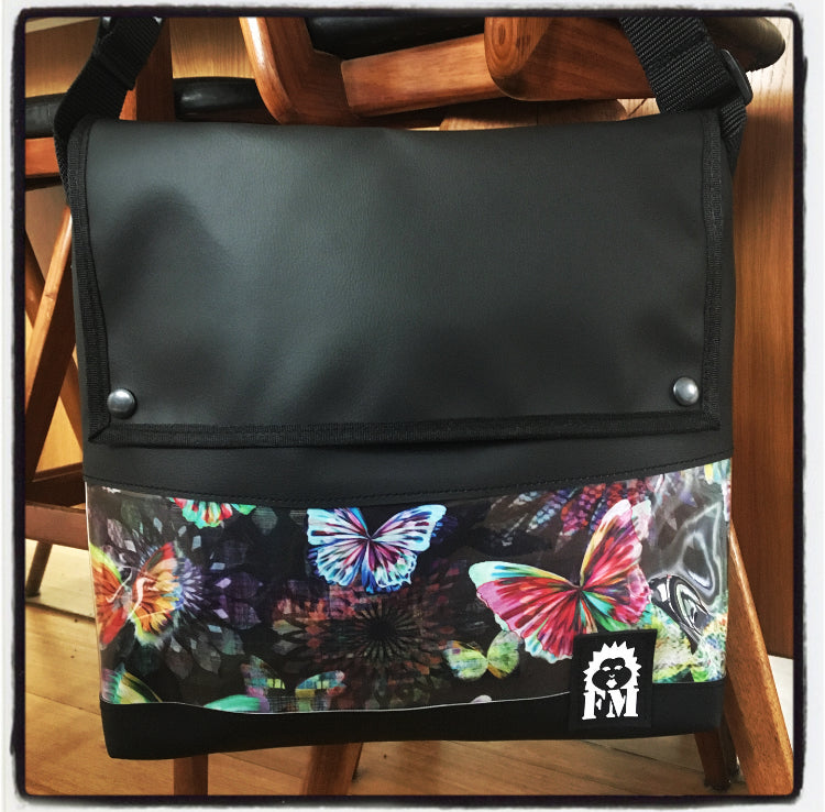 Messenger Bag - Kaleidoscope Butterflies