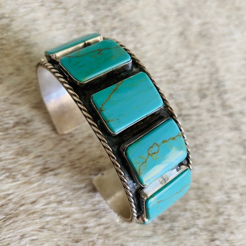 Turquoise Blocked Cuff