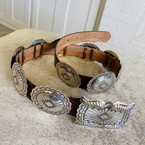 Leather + Sterling Silver Belt